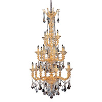 Mendelsshon 20 Light 36 inch Two-tone Gold/24K Chandelier Ceiling Light