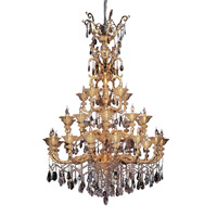 Mendelsshon 30 Light 59 inch Two-tone Gold/24K Chandelier Ceiling Light