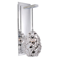 Allegri Veronese 1 Light Wall Bracket in Chrome with Firenze Mixed Crystals 11101-010-FR000