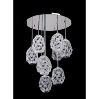 Allegri Veronese 9 Light Pendant in Chrome with Firenze Mixed Crystals 11108-010-FR000