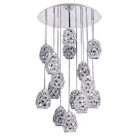 Allegri Veronese 15 Light Pendant in Chrome with Firenze Mixed Crystals 11109-010-FR000