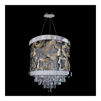 Allegri Caravagio 6 Light Pendant in Chrome with Firenze Clear Crystals 11118-010-FR001
