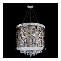 Allegri Caravagio 9 Light Pendant in Chrome with Firenze Clear Crystals 11119-010-FR001