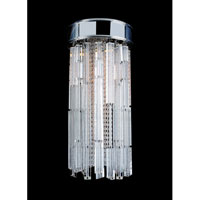 Allegri Zurbaran 9 Light Flush Mount in Chrome with Firenze Clear Crystals 11127-010-FR001