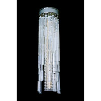 Allegri Zurbaran 9 Light Flush Mount in Chrome with Firenze Clear Crystals 11128-010-FR001