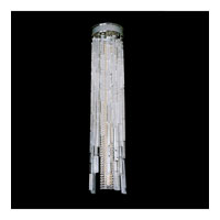 Allegri Zurbaran 9 Light Flush Mount in Chrome with Firenze Clear Crystals 11129-010-FR001
