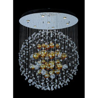 Allegri Velazquez 7 Light Flush Mount in Chrome with Firenze Clear Crystals 11167-010-FR001