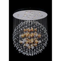 Allegri Velazquez 13 Light Flush Mount in Chrome with Firenze Clear Crystals 11168-010-FR001