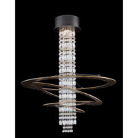 Allegri Giovanni 1 Light Chandelier in Gold Leaf TP with Swarovski Elements Clear Crystals 11188-021-SE001