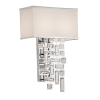Allegri 11190-010-SE001 Vermeer 2 Light Chrome Wall Sconce Wall Light in Swarovski Elements Clear