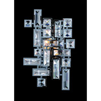 Vermeer 2 Light 8 inch Chrome Wall Bracket Wall Light in Swarovski Elements Clear