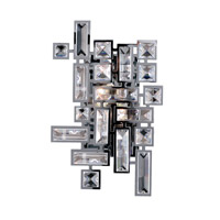 Allegri 11191-010-FR001 Vermeer 2 Light 8 inch Chrome ADA Wall Sconce Wall Light in Firenze Clear