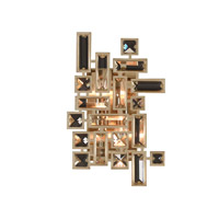 Allegri 11191-038-FR001 Vermeer 2 Light 8 inch Brushed Champagne Gold ADA Wall Sconce Wall Light in Firenze Clear