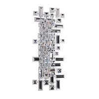 Allegri Vermeer 4 Light Wall Bracket in Chrome with Firenze Clear Crystals 11192-010-FR001