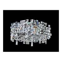 Allegri Vermeer 6 Light Flush Mount in Chrome with Firenze Clear Crystals 11194-010-FR001