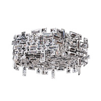 Vermeer 6 Light 24 inch Chrome Flush Mount Ceiling Light
