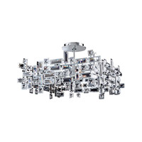 Allegri 11196-010-SE001 Vermeer 4 Light 21 inch Chrome Pendant Ceiling Light in Swarovski Elements Clear photo thumbnail