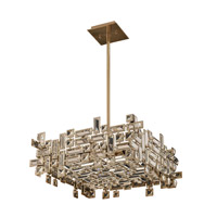 Allegri 11196-038-FR001 Vermeer 8 Light 21 inch Brushed Champagne Gold Pendant Ceiling Light in Firenze Clear