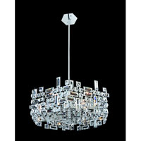 Allegri Vermeer 6 Light Pendant in Chrome with Firenze Clear Crystals 11197-010-FR001