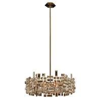 Allegri 11197-038-FR001 Vermeer 6 Light 24 inch Brushed Champagne Gold Pendant Ceiling Light in Firenze Clear
