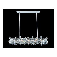 Allegri 11199-010-FR001 Vermeer 8 Light 14 inch Chrome Pendant Ceiling Light in Firenze Clear