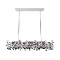Allegri 11199-010-SE001 Vermeer 8 Light 44 inch Chrome Island Light Ceiling Light