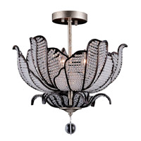 Tiepolo 3 Light 16 inch Silver Leaf SB Semi-Flush Ceiling Light in Firenze Clear