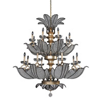 Allegri 11259-028-FR001 Tiepolo 16 Light 51 inch Silver Leaf Sienna Bronze Chandelier Ceiling Light in Firenze Clear