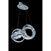 Allegri Anastagio 2 Light Pendant in Chrome with Firenze Clear Crystals 11265-010-FR001