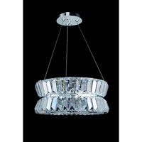 Allegri Armanno 3 Light Pendant in Chrome with Firenze Clear Crystals 11275-010-FR001