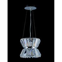 Allegri Armanno 1 Light Mini Pendant in Chrome with Firenze Clear Crystals 11276-010-FR001