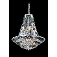 Allegri Auletta 12 Light Chandelier in Chrome with Firenze Clear Crystals 11425-010-FR001