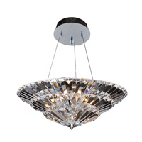 Allegri Auletta 10 Light Flush Mount in Chrome with Firenze Clear Crystals 11426-010-FR001