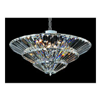 Allegri Auletta 15 Light Flush Mount in Chrome with Firenze Clear Crystals 11427-010-FR001