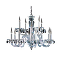 Allegri 11528-010-FR001 Fanshawe 12 Light 33 inch Chrome Chandelier Ceiling Light in Firenze Clear