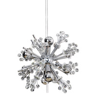 Constellation 6 Light 13 inch Chrome Mini Pendant Ceiling Light