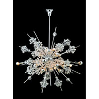 Allegri Constellation 30 Light Chandelier in Chrome with Firenze Clear Crystals 11634-010-FR001