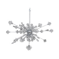 Allegri Constellation 46 Light Pendant in Chrome with Firenze Clear Crystals 11636-010-FR001