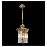 Allegri Soriano 3 Light Pendant in Antique Silver Leaf with Firenze Clear Crystals 11645-006-FR001