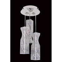 Allegri Toressano 12 Light Flush Mount in Chrome with Firenze Clear Crystals 11646-010-FR001