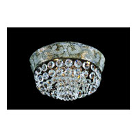 Allegri Romanov 5 Light Flush Mount in Antique Silver Leaf with Firenze Clear Crystals 11651-006-FR001