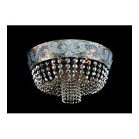 Allegri Romanov 7 Light Flush Mount in Antique Silver Leaf with Firenze Clear Crystals 11653-006-FR001