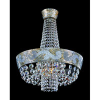 Allegri Romanov 6 Light Chandelier in Antique Silver Leaf with Firenze Clear Crystals 11656-006-FR001