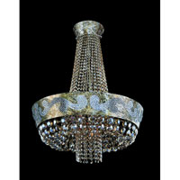 Allegri Romanov 11 Light Chandelier in Antique Silver Leaf with Firenze Clear Crystals 11657-006-FR001
