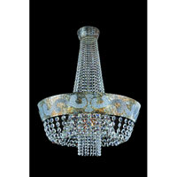 Allegri Romanov 12 Light Chandelier in Antique Silver Leaf with Firenze Clear Crystals 11658-006-FR001