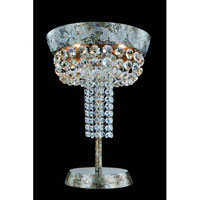 Allegri Romanov 3 Light Floor Lamp in Antique Silver Leaf with Firenze Clear Crystals 11659-006-FR001