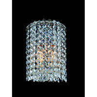 Allegri Millieu-Metro 1 Light Wall Sconce in Chrome with Firenze Clear Crystals 11660-010-FR001
