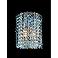 Allegri Millieu-Metro 2 Light Wall Sconce in Chrome with Firenze Clear Crystals 11661-010-FR001