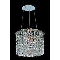 Allegri Millieu-Metro 2 Light Pendant in Chrome with Firenze Clear Crystals 11666-010-FR001