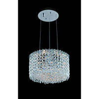 Allegri Millieu-Metro 2 Light Pendant in Chrome with Firenze Clear Crystals 11667-010-FR001